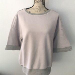 Women's Large Short Sleeve Sweatshirt in Gray